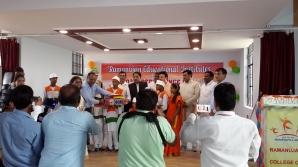 Children receiving awards